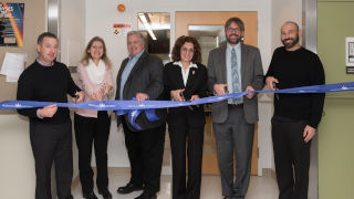 Celebrating the dedication of the new multi-purpose collaborative suite of laboratories in McNulty Hall 116.