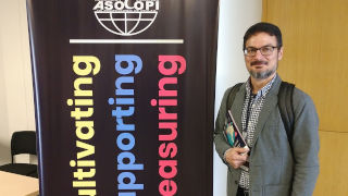 Bryan Meadows at the 54th annual ASOCOPI conference held in Bogota, Colombia