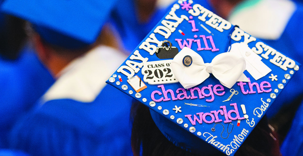 Decorated Commencement Cap