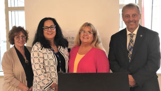 (Left to Right) Laura Goshko, Kathleen Neville, Laura Leahy and Stanley Terlecky at the August 22 training program.