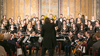 Assistant Professor Jason Tramm conducts the Seton Hall University Chamber Choir as part of this year's line-up. x320