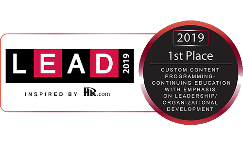Lead Winner's Circle 2019 Award for Leadership and Organizational Development