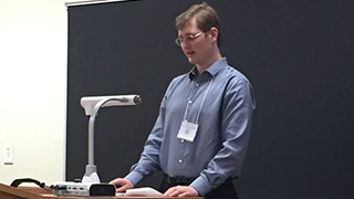 Senior history major, Michael Novak, recently presented his teams research at national conferences.