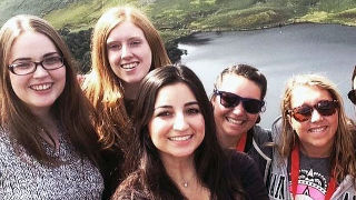 Students from the School of Health and Medical Sciences traveling abroad to Ireland.